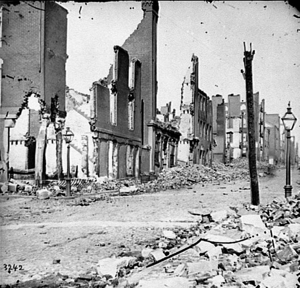 Richmond after it was burned by Confederates