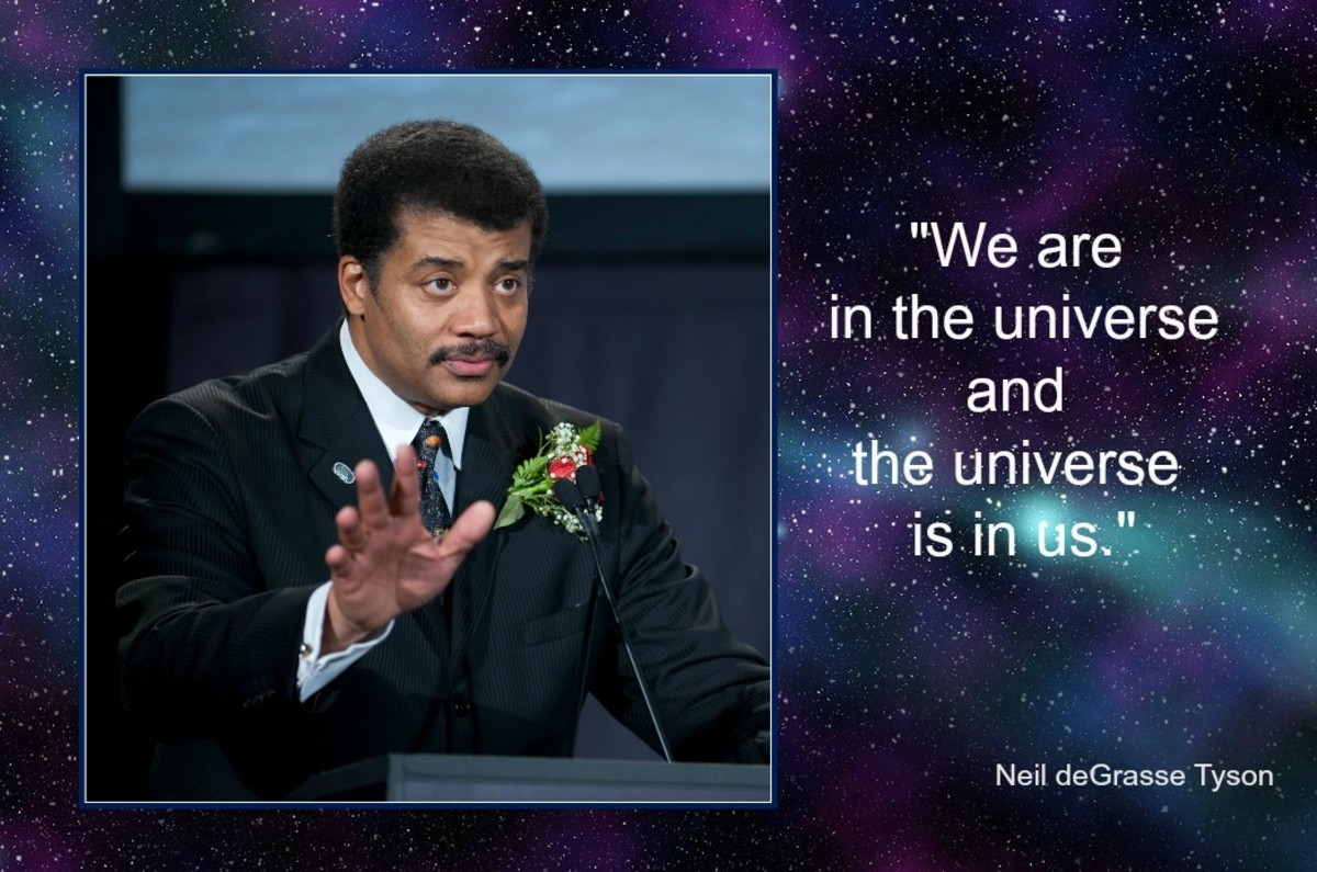 We are all made of star-dust and thus are part of the universe.
