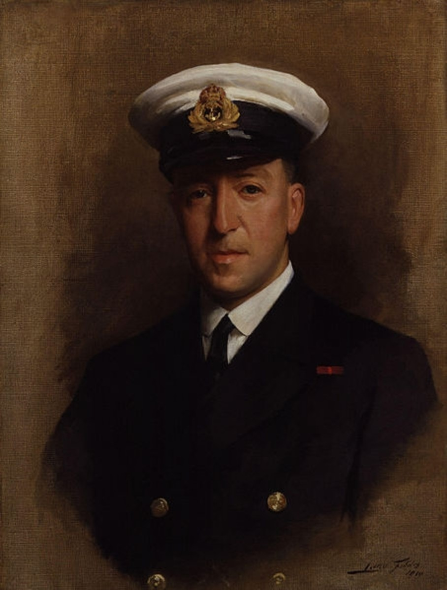 Paul Fildes (later Sir Paul Fildes) (1882 - 1971)  portrait painted in 1919.
