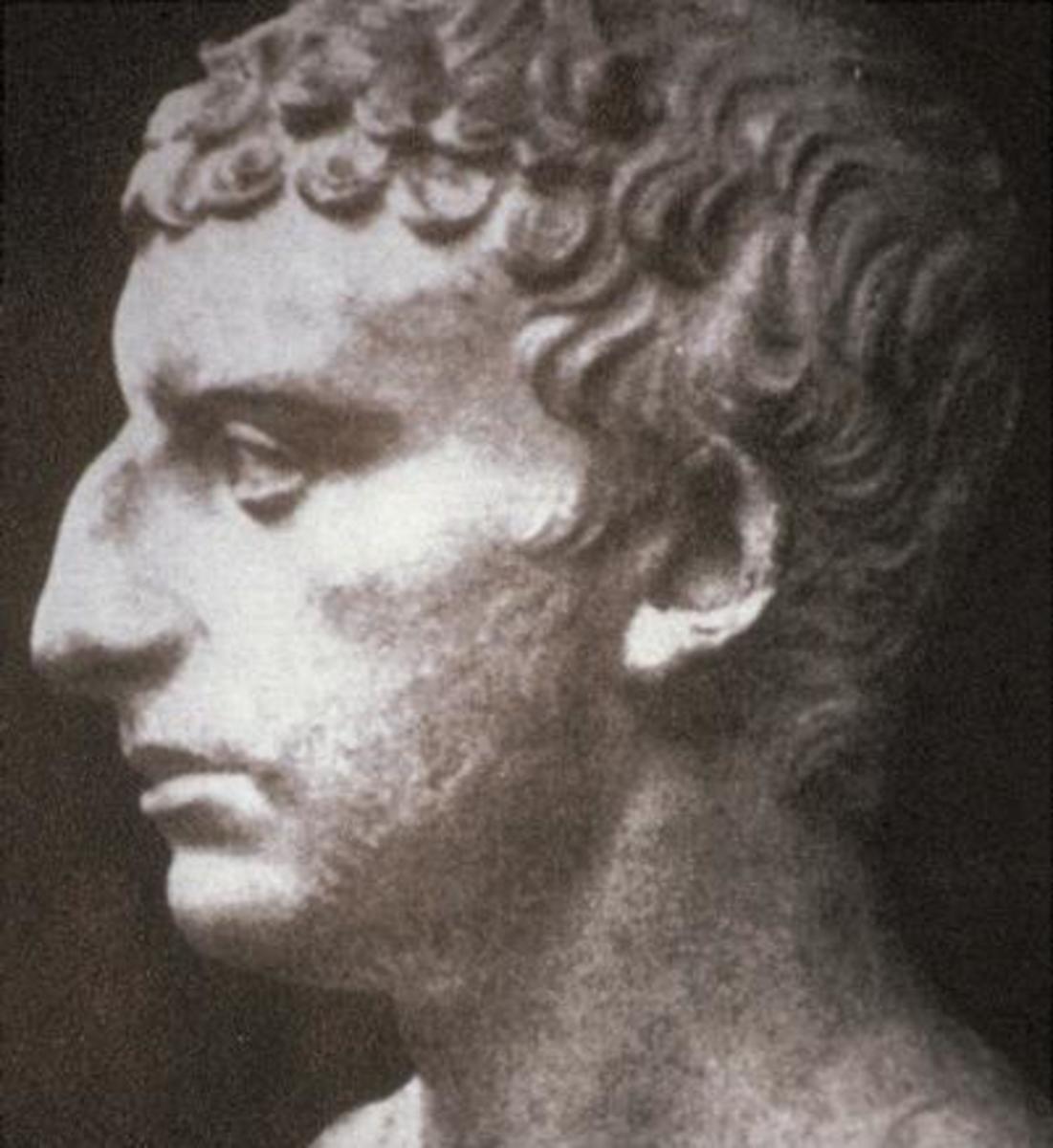 A bust of the historian Flavius Josephus.