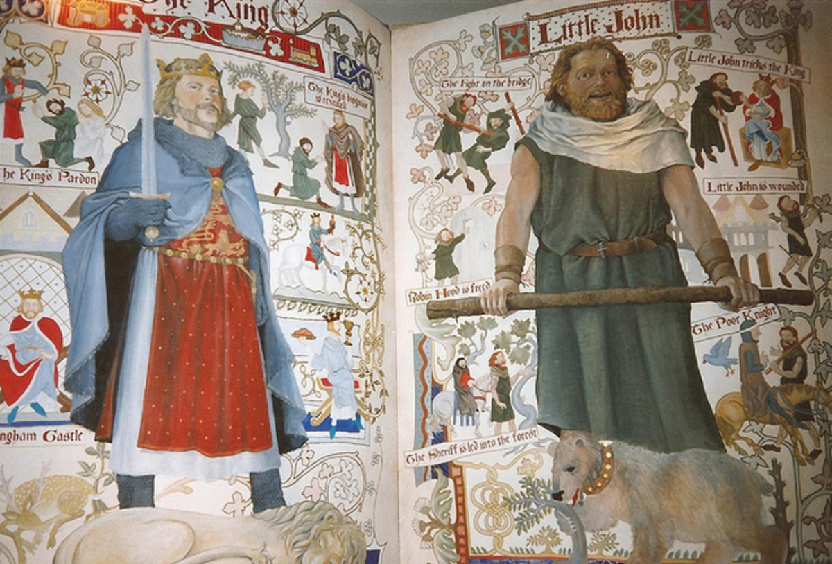 King Richard the Lionheart and Little John