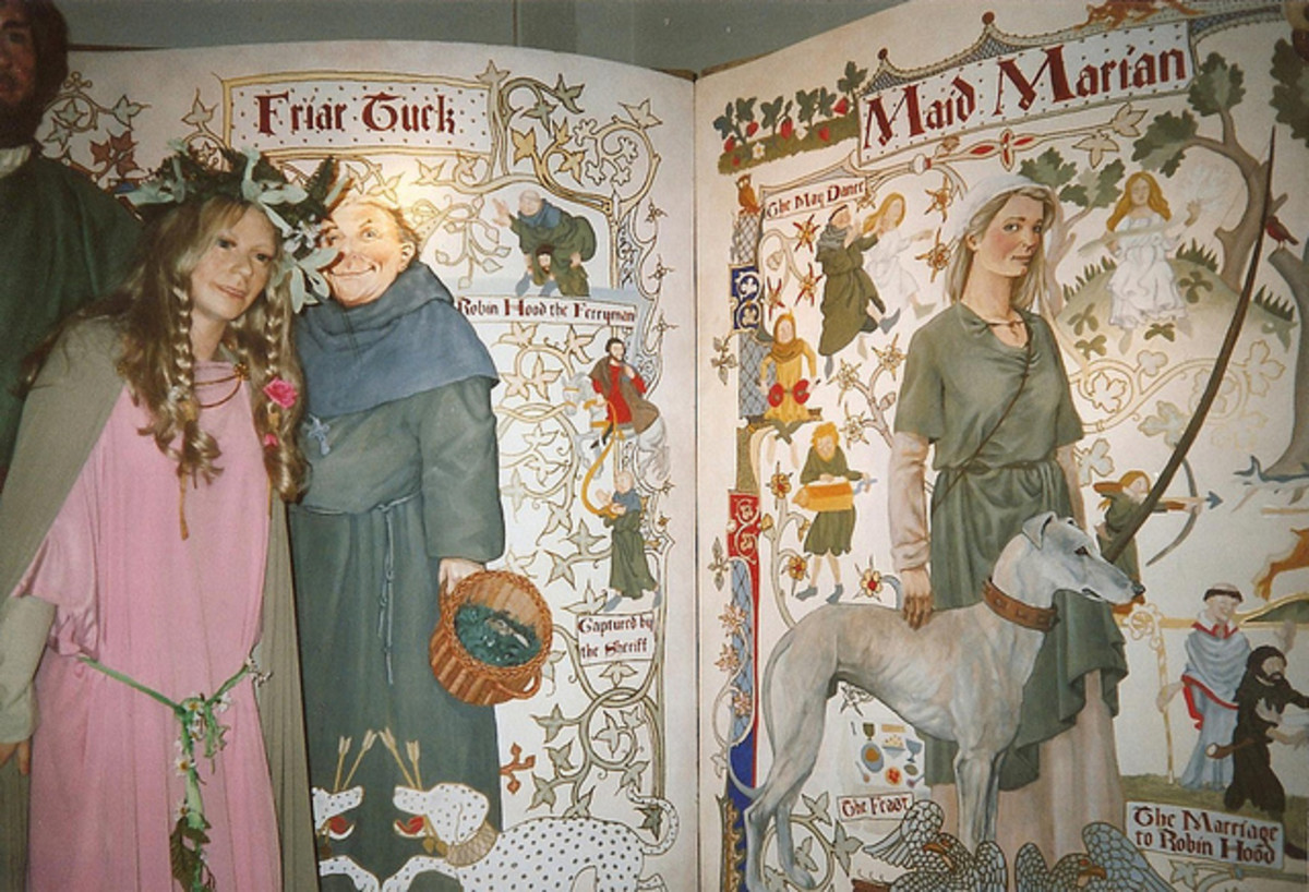 Maid Marian and Friar Tuck: Introduced via the May Day festivities rather than the earlier ballads
