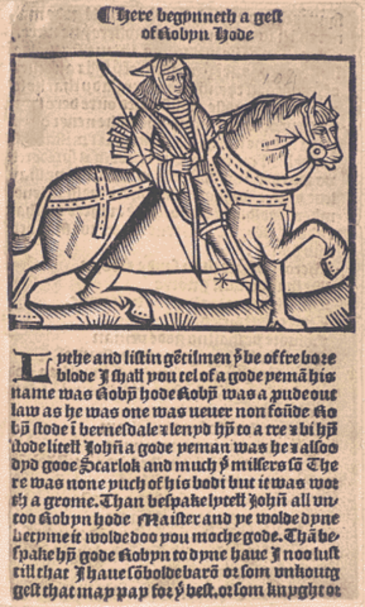 A Gest of Robyn Hode, one of the 15th century ballads that helped shape the legend of Robin Hood