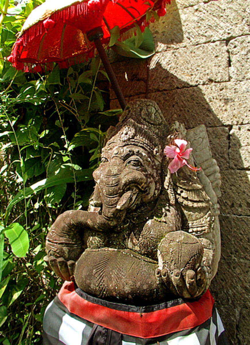 Above: Hindu deity Ganesha is revered by Balinese as the remover of obstacles.