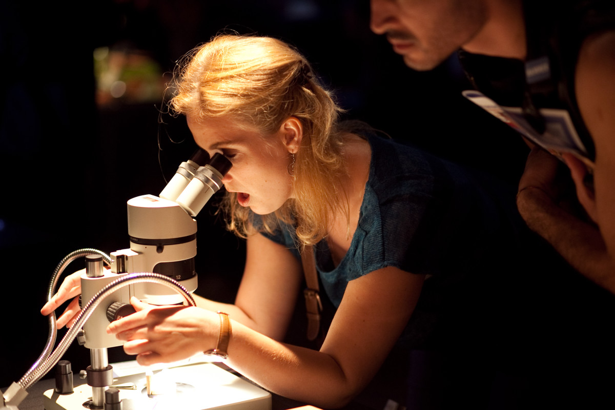 Whether you're working with a microscope or telescope, science is cool.