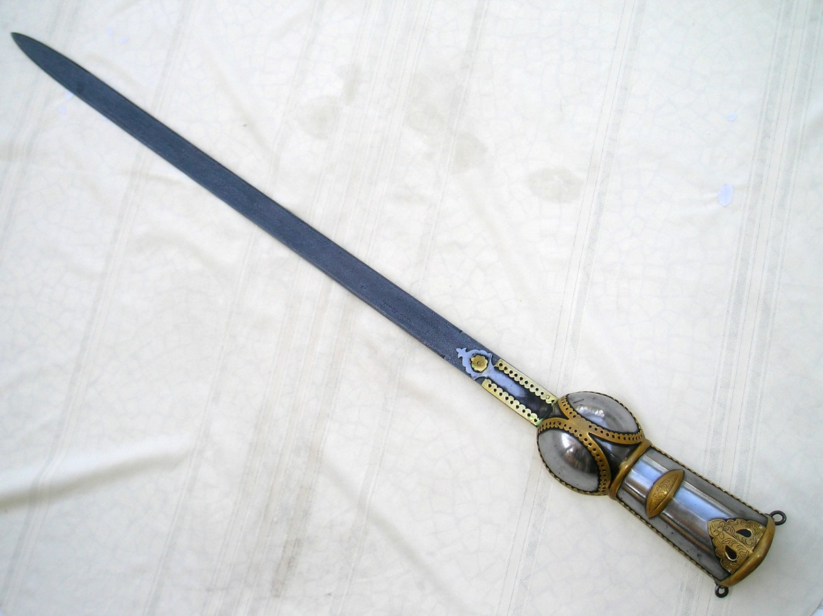 An ornamental Pata Sword made of damascus steel