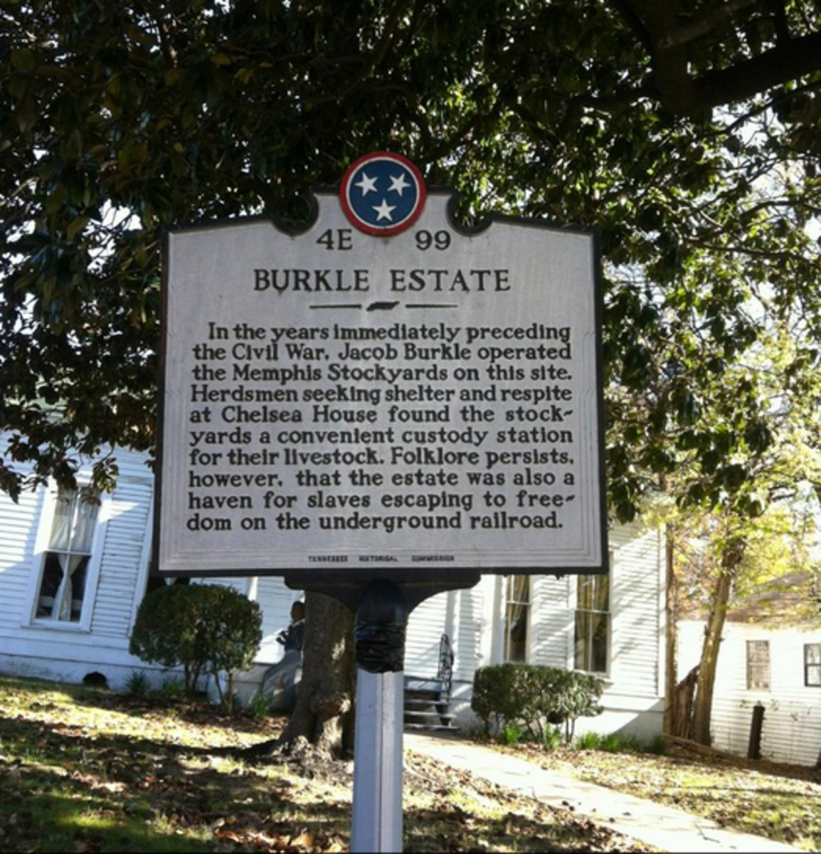 The Burkle Estate was near the banks of the Mississippi River and was an excellent stop for escapees as they fled to the freedom of the North.