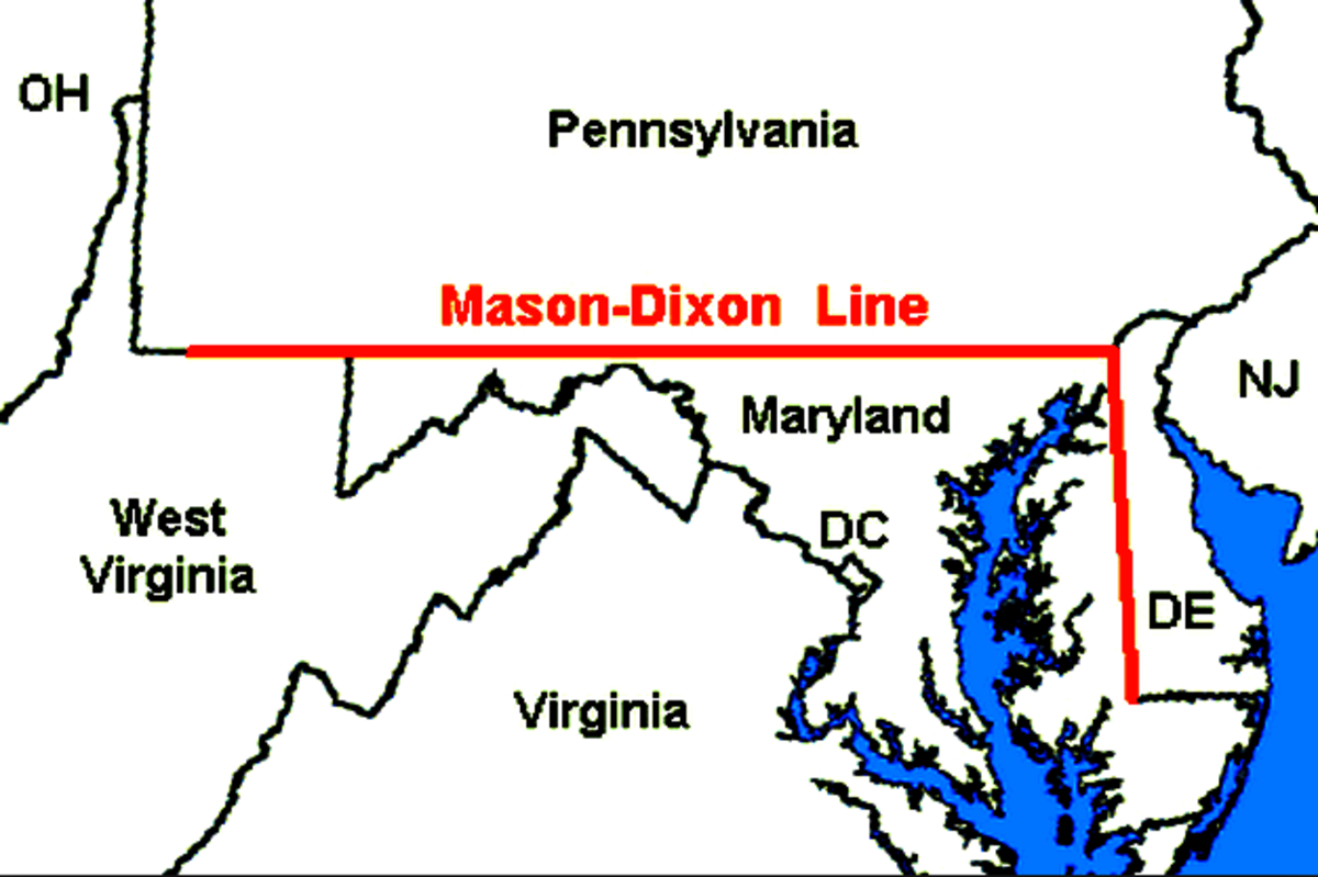 The Missouri Compromise of 1820 established the Mason Dixon Line.  There was no slavery in the states North of the Mason Dixon Line.
