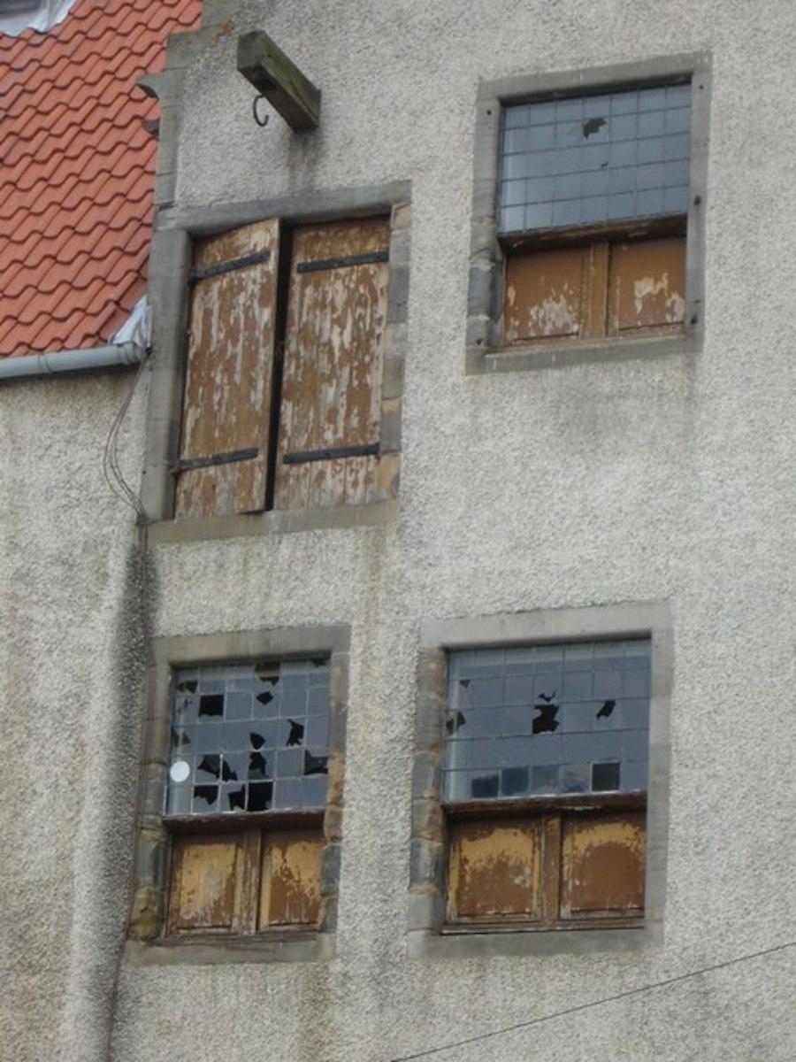 In medieval Europe, wooden shutters were often used not only to protect houses from the worst of the weather when glass could not be afforded, but also to protect the glass during times of social unrest or warfare.