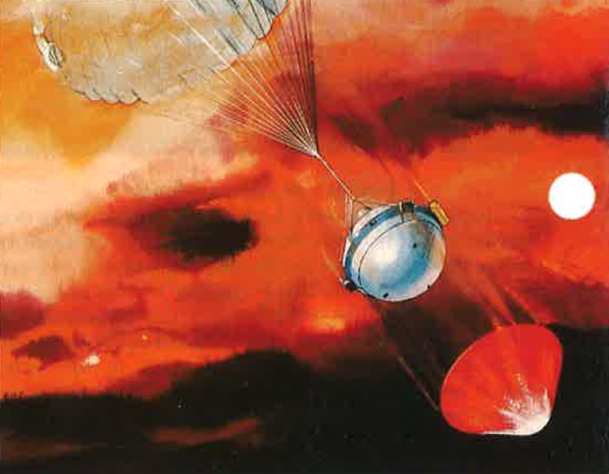 The probe's descent.