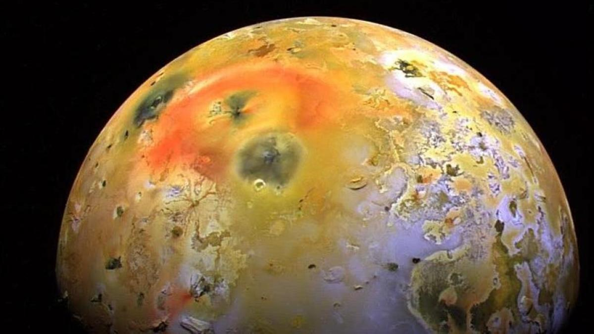 Io as imaged by the Galileo probe.