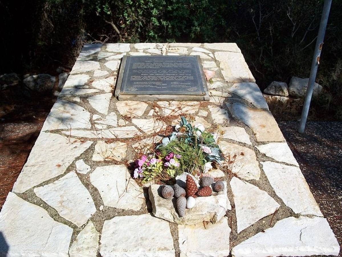 HMS Perseus Memorial, just outside of Poros, Kefalonia (dedicated in 2000)