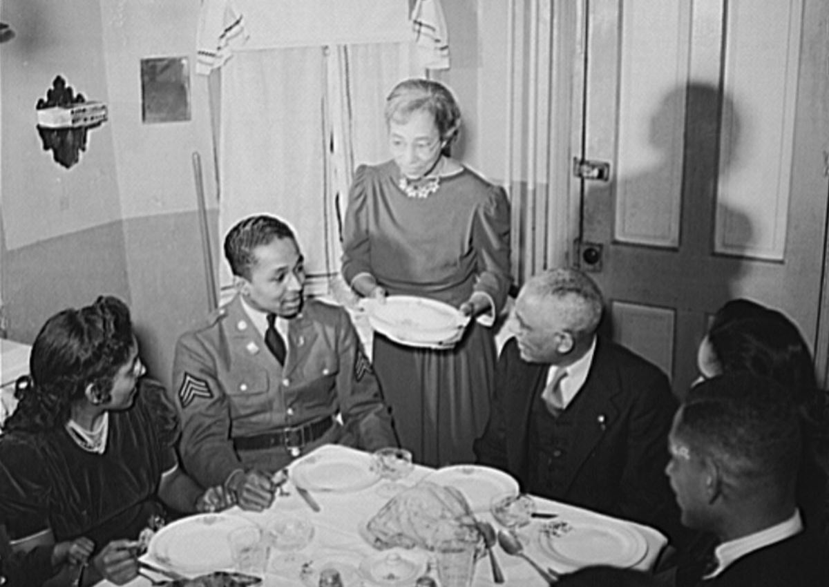 The Williams family at the dinner table
