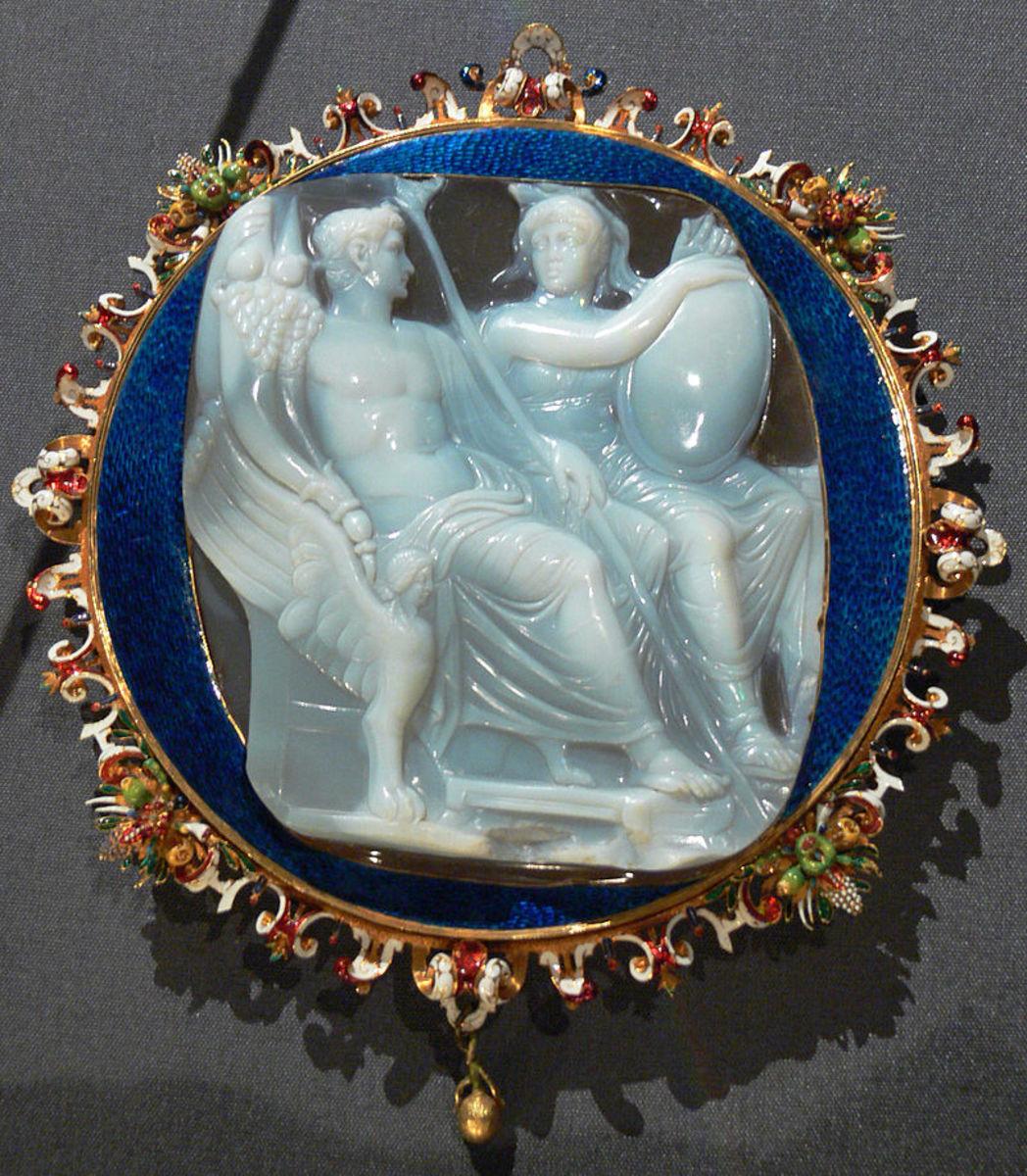 Caligula with the goddess Roma