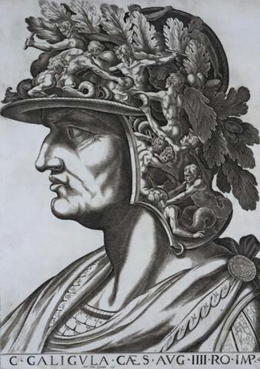 16th century depiction of Caligula