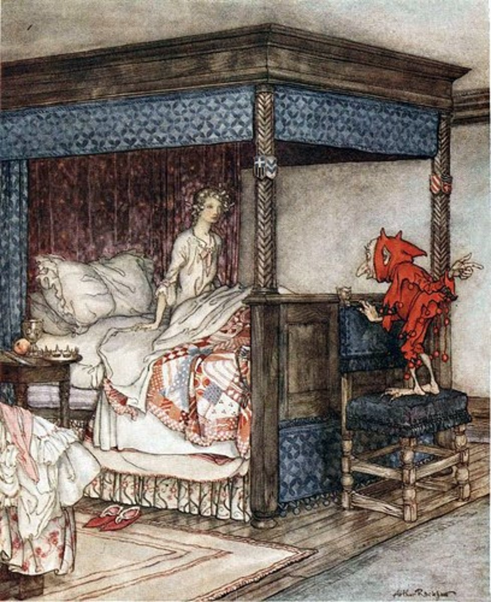 A house elf, by Arthur Rackham.