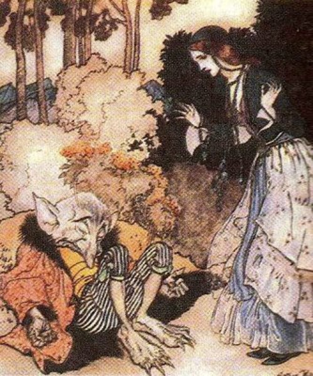 Sleeping elf, Arthur Rackham