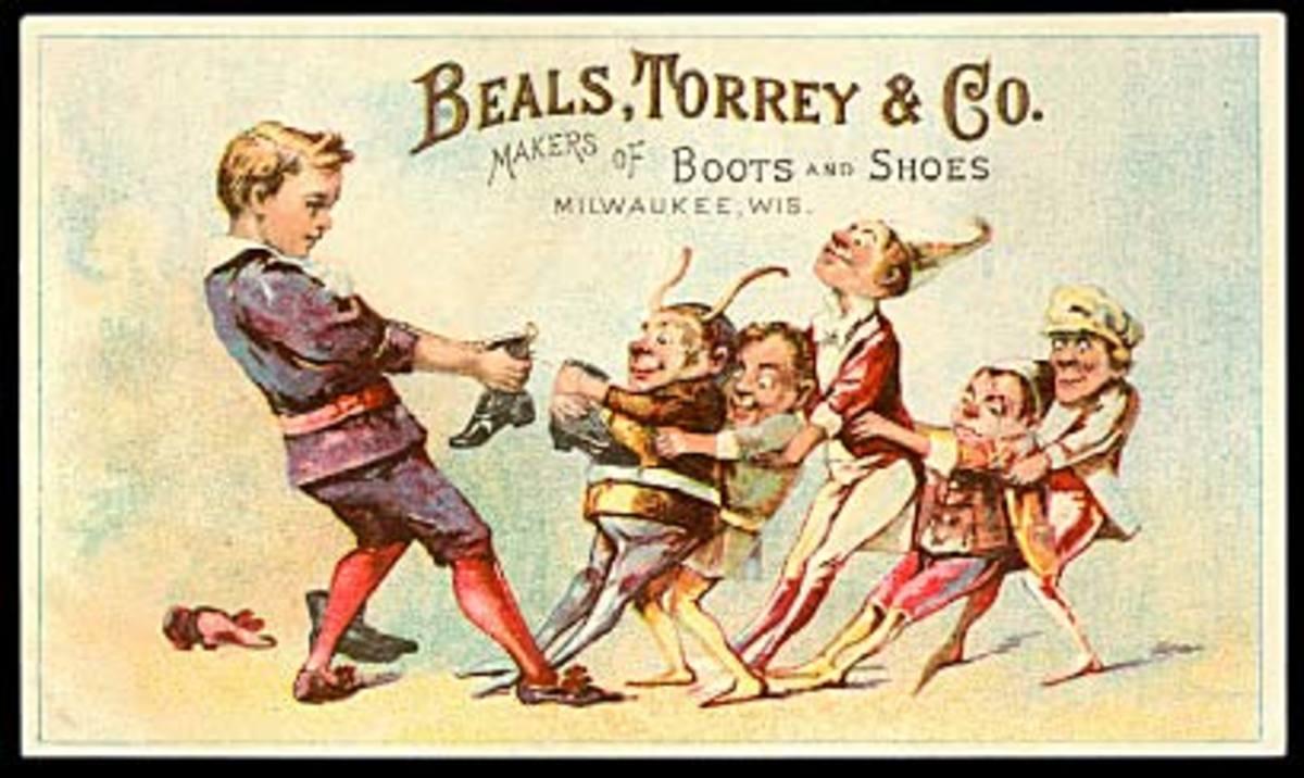 Brownies in a vintage advertisement.