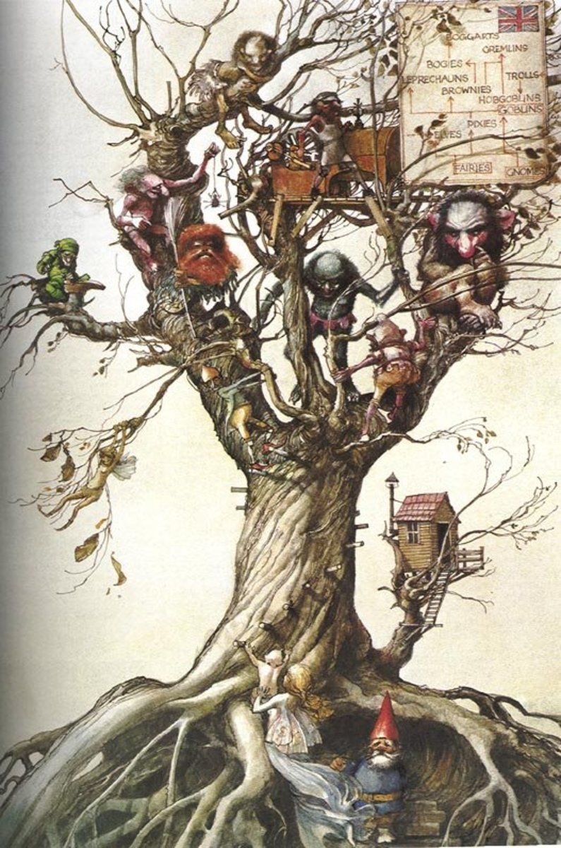 Elfin species, by Arthur Rackham.