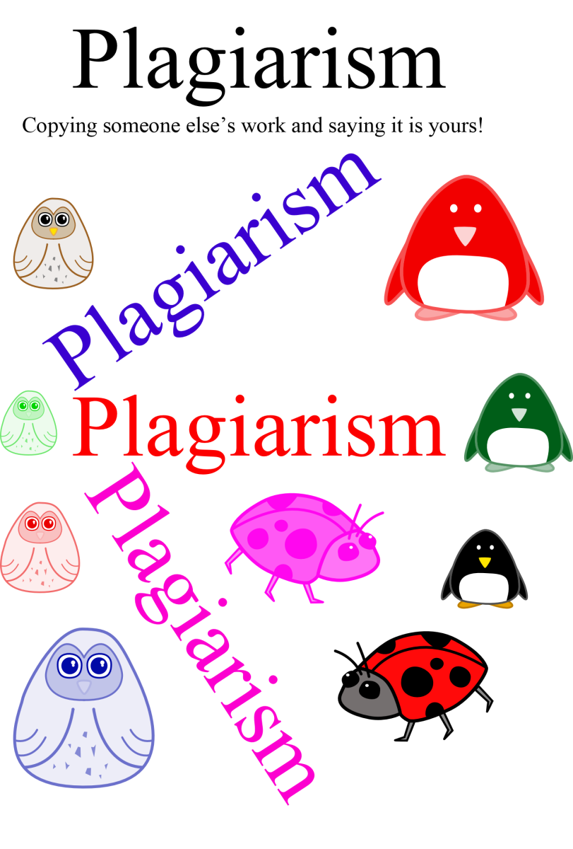 graphic illustrating plagiarism
