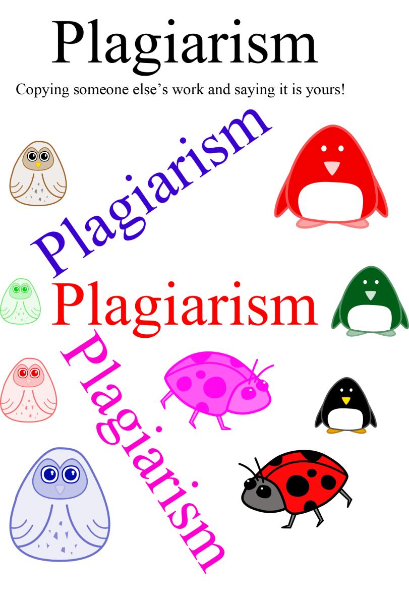 graphic illustrating plagiarism