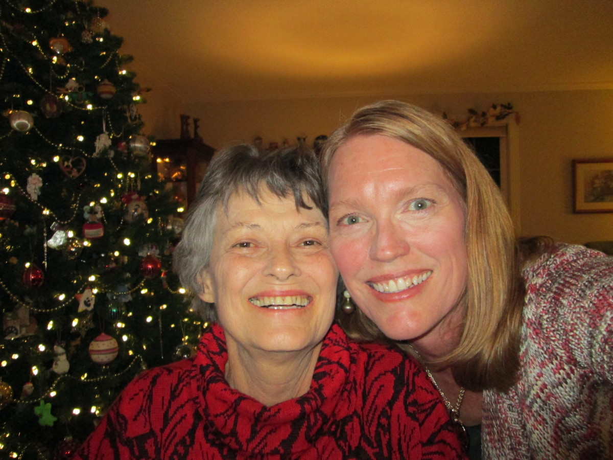 My last selfie with my mom, taken the week before her death.