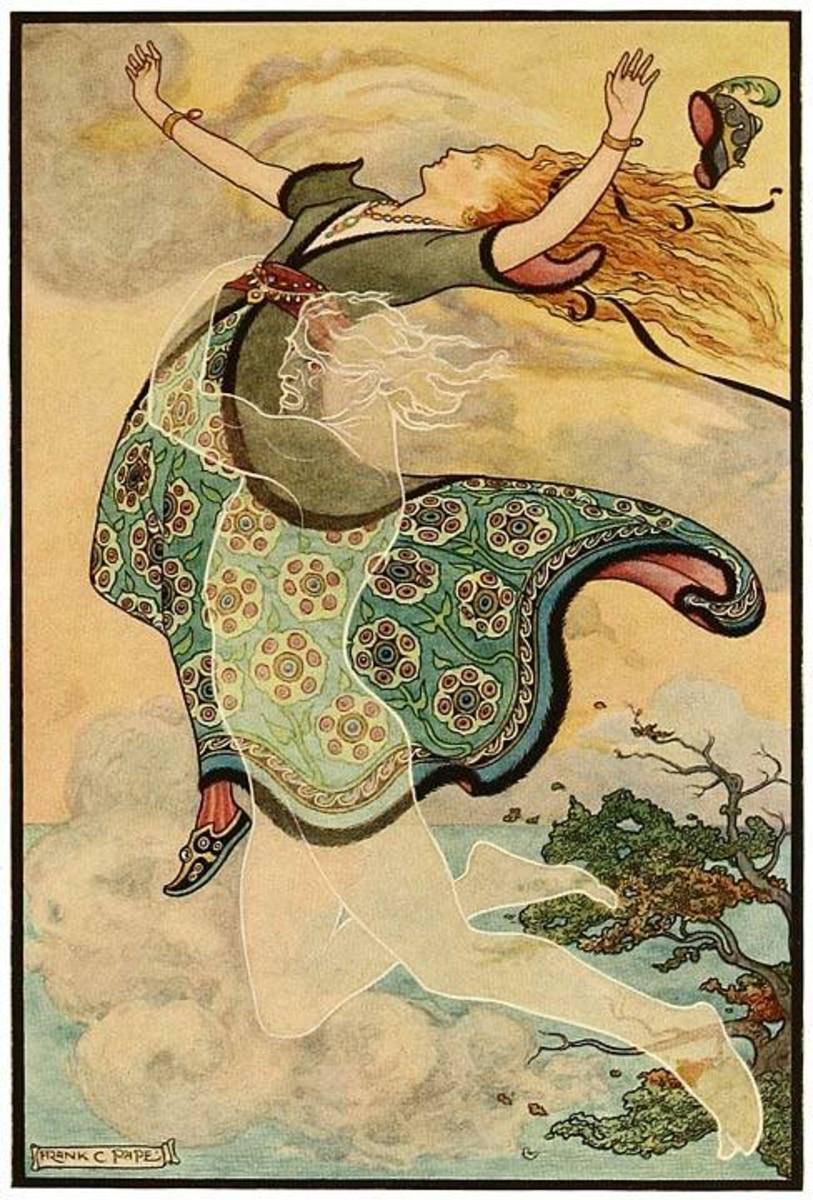 Russian fairy tale illustration by Frank C. Pape, 1916