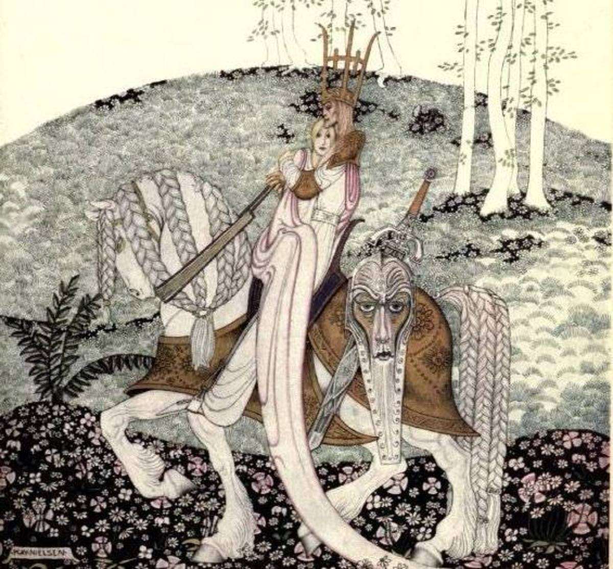 A fairy tale illustration by Kay Nielsen