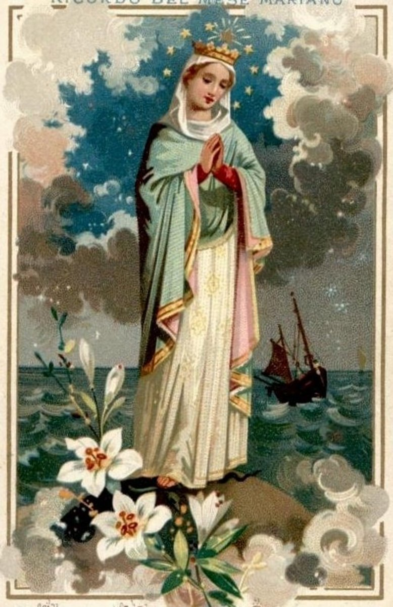 "The Virgin Mary in her role as ""Star of the Sea,"" protectress of seafarers"