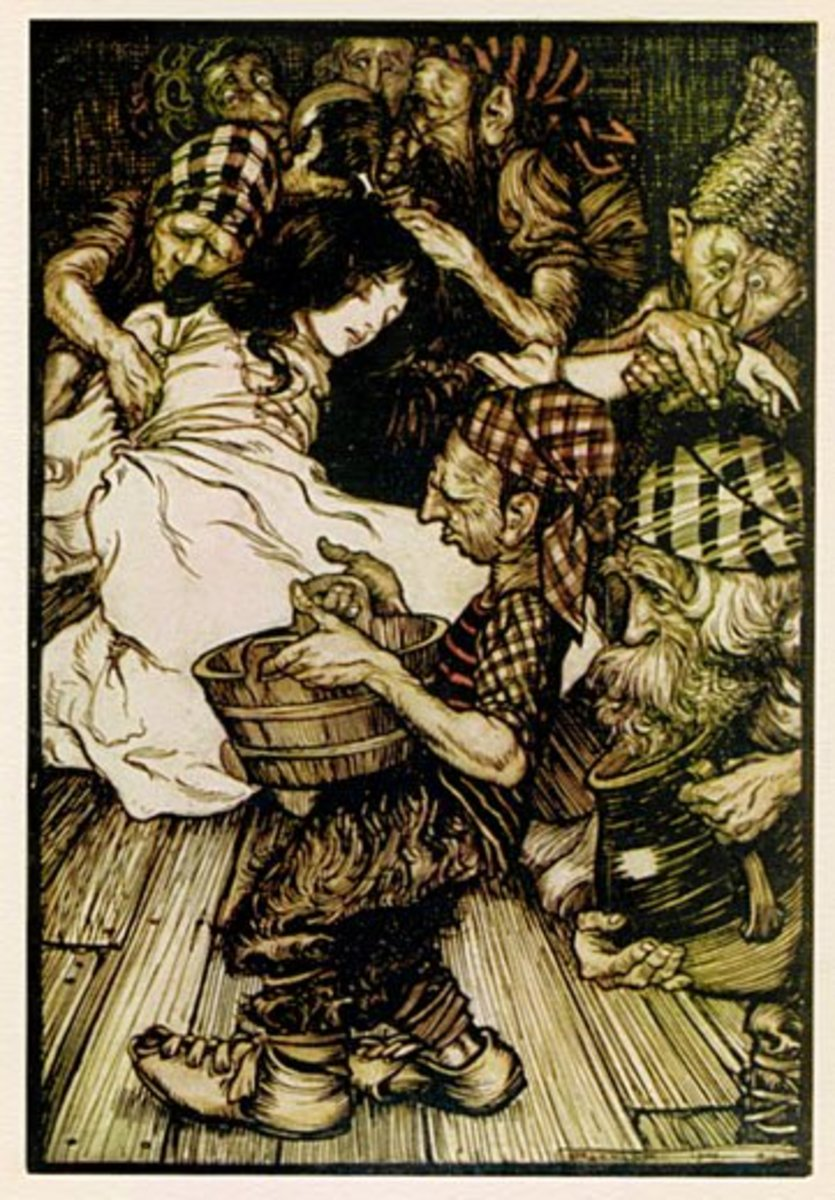 Snow White, illustration by Arthur Rackham