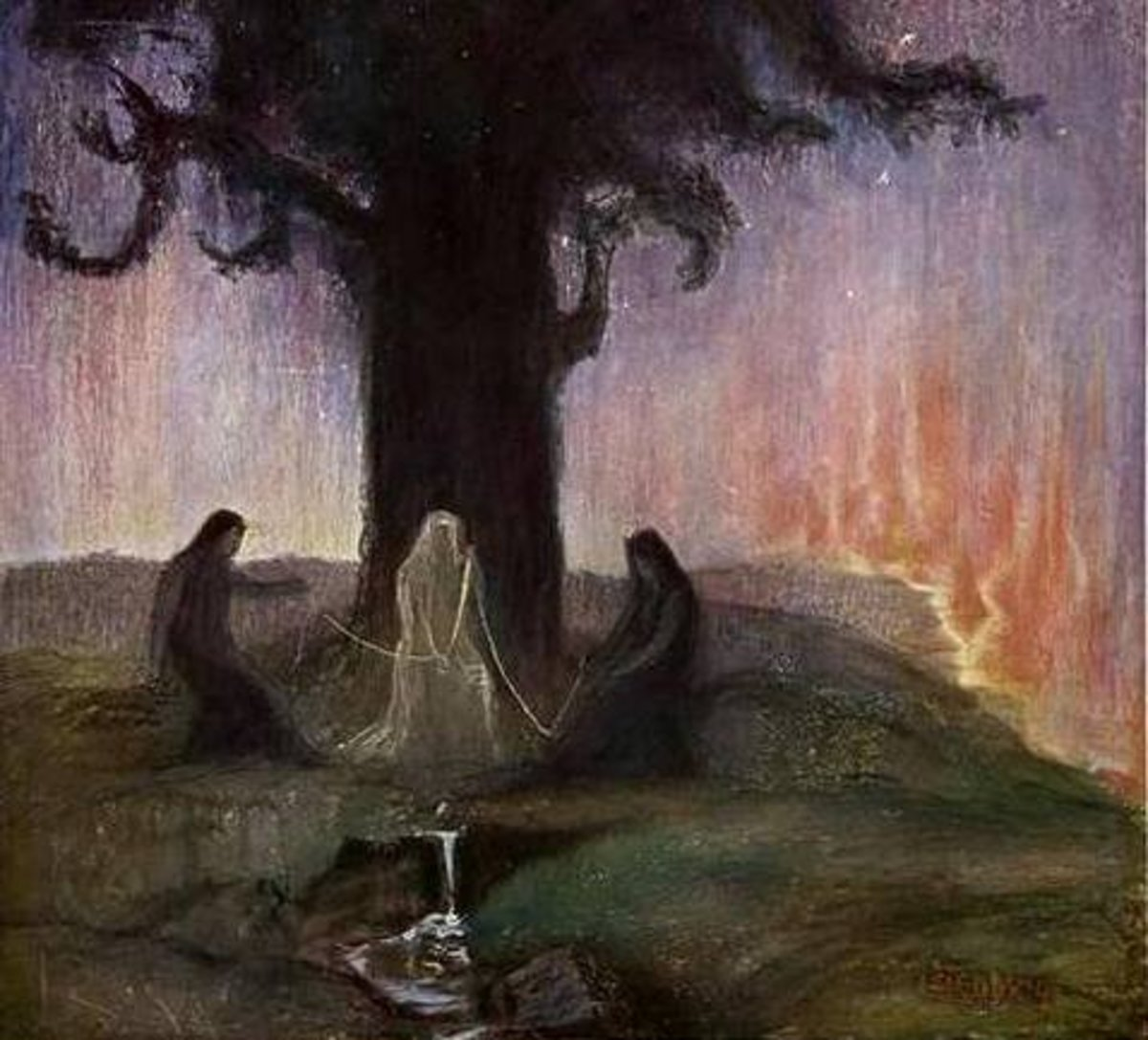 The Norns, Hermann Hendrich, 1906