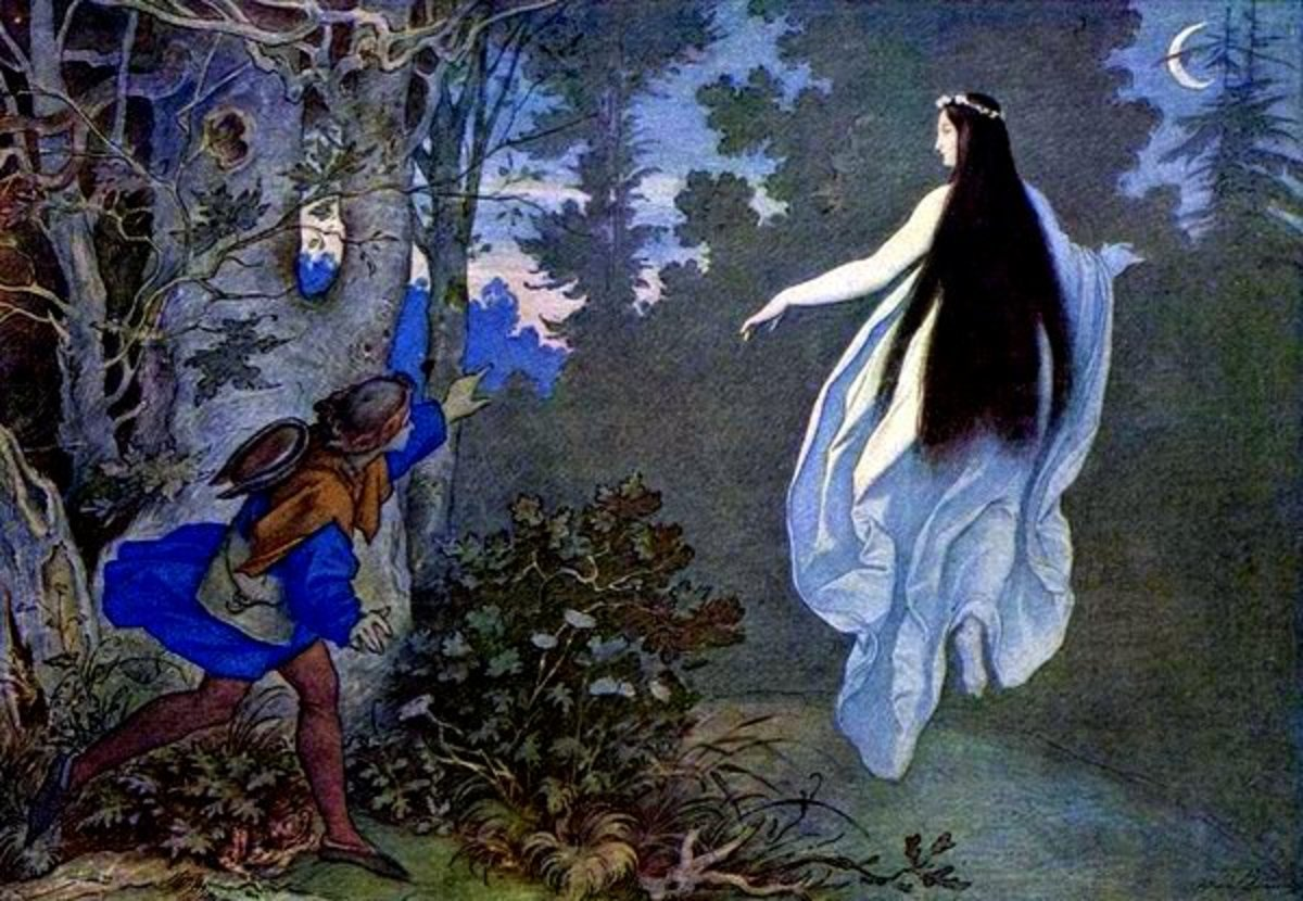 """Apparition in the Woods"" by Moritz von Schwind, 1858"