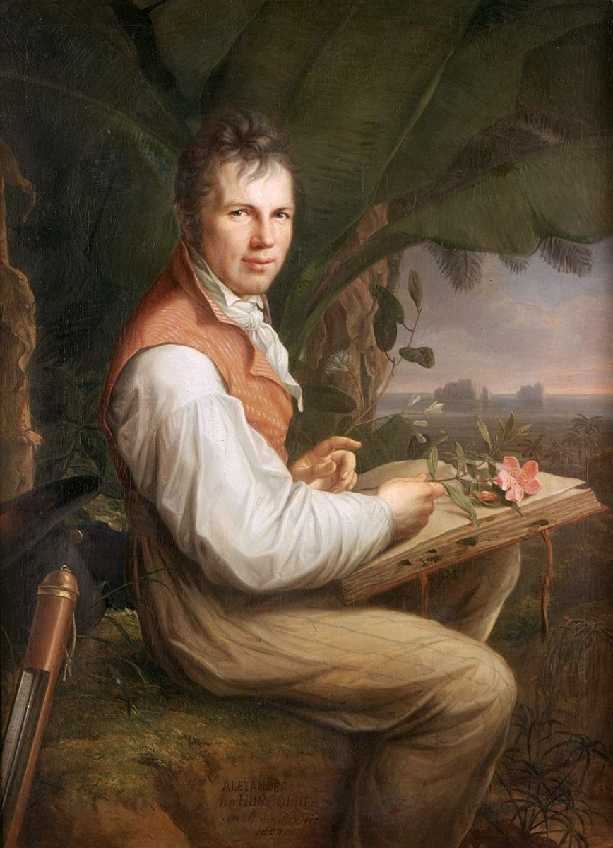 Alexander von Humboldt, painted by Friedrich Georg Weitsch, 1806.  Image courtesy Wikimedia Commons.