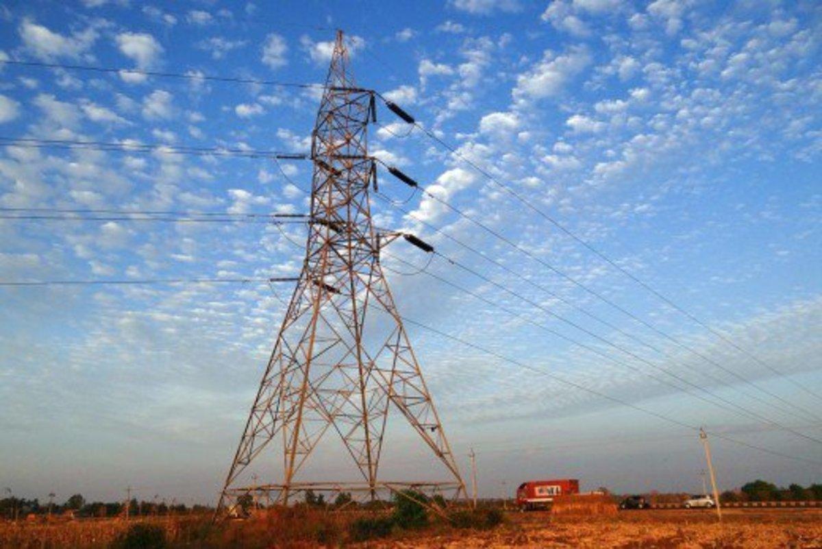 Electric power pylon.