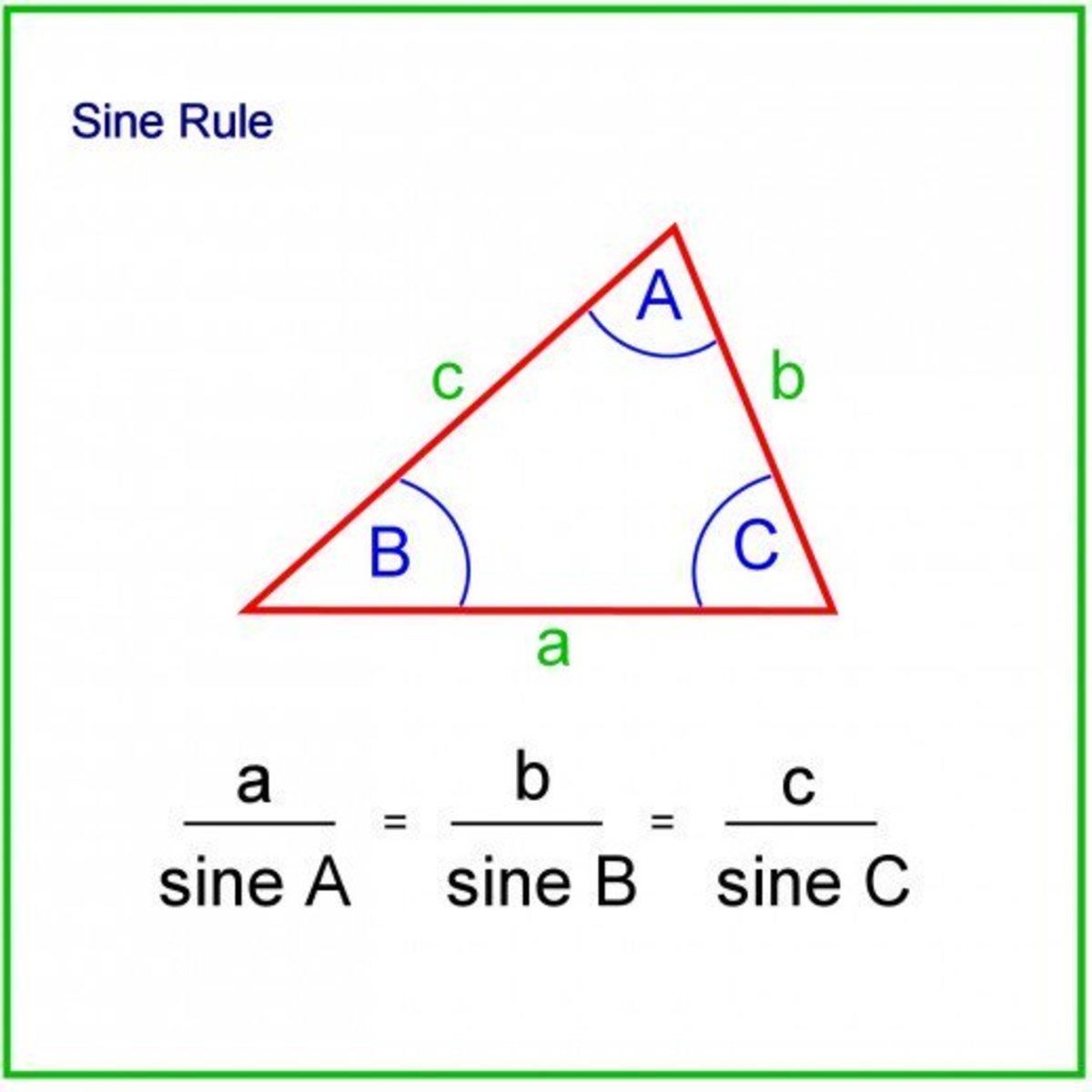 Sine rule.