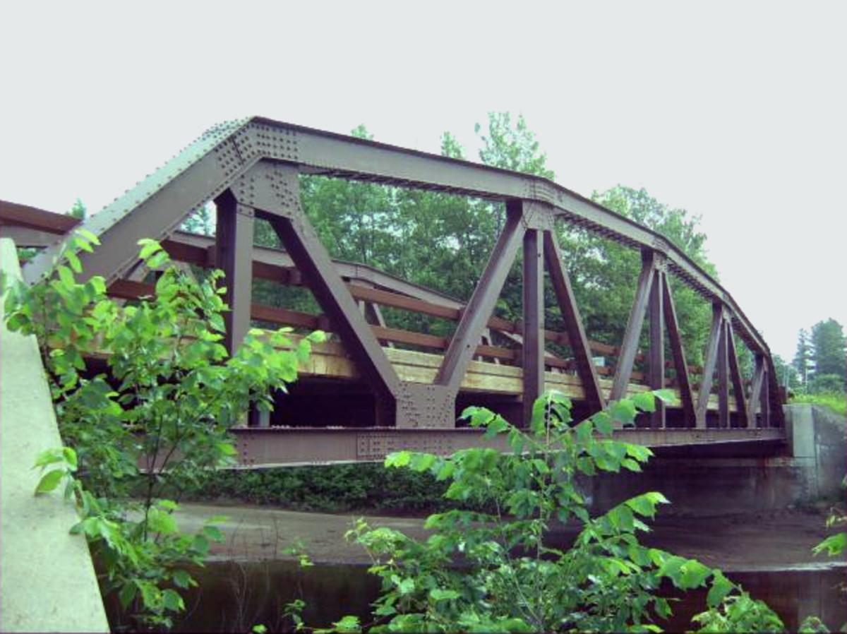 Truss bridge.