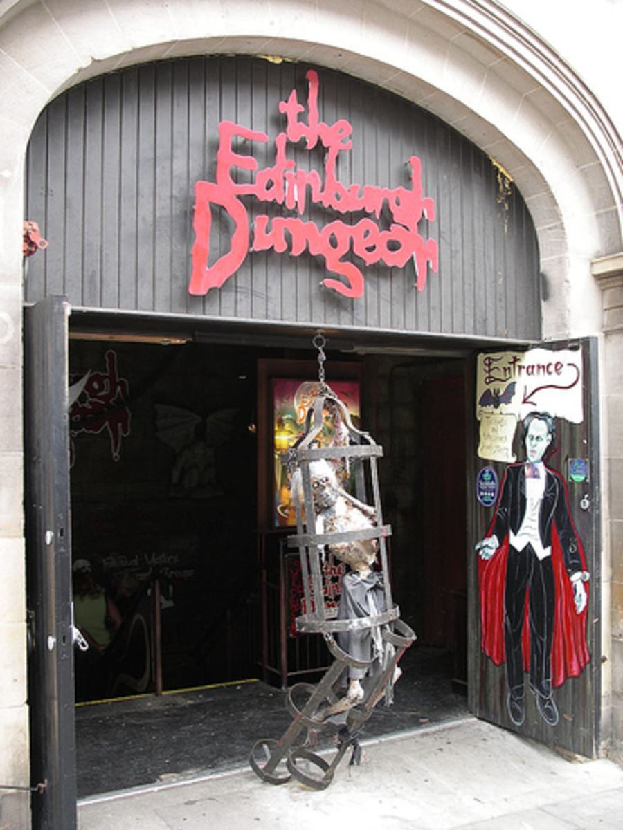 The Edinburgh Dungeon has a Sawney Bean exhibit for those with a ghoulish appetite for such things