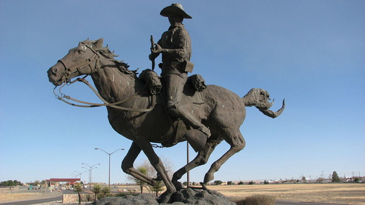 Memorial to Buffalo Soldiers in El Paso, Texas