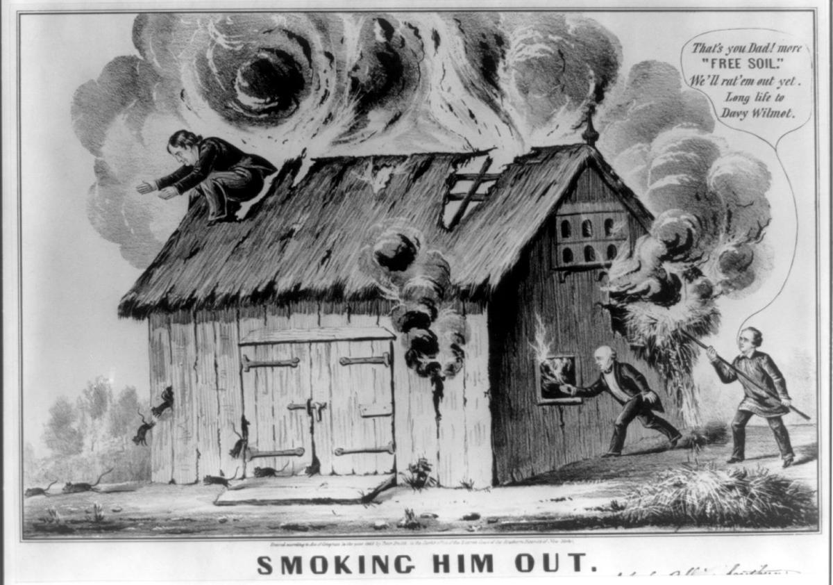 Satirical Caption against Barnburner Democrat Van Buren