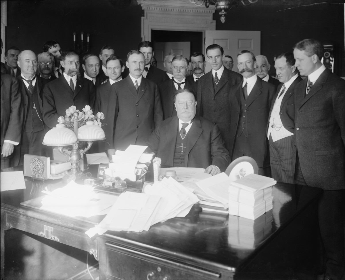 February 14,1912, Taft signing Arizona Statehood Bill.