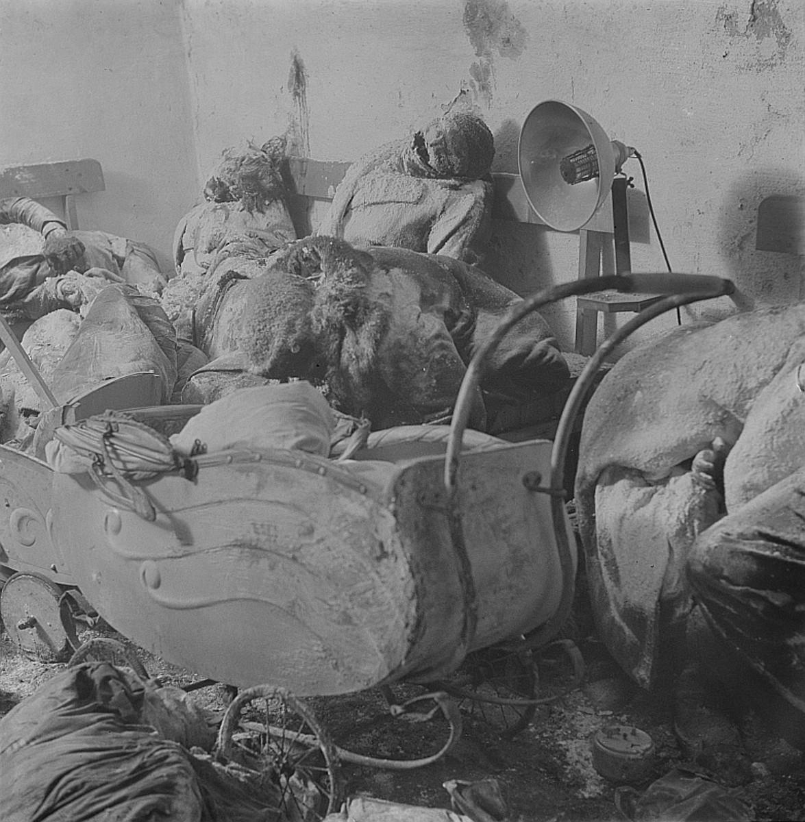 Bodies of civilians.