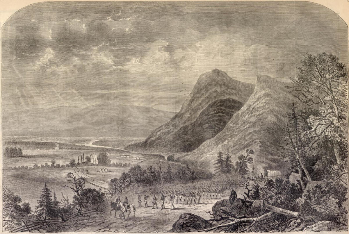 The Shenandoah Valley was a prime example of the geography of the American South as the valley was surrounded by vast ridges and provided a strong natural defense for the Confederacy.