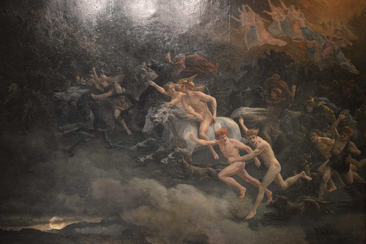 """The Wild Hunt of Odin"" (Peter Nicolai Arbo 1868)"