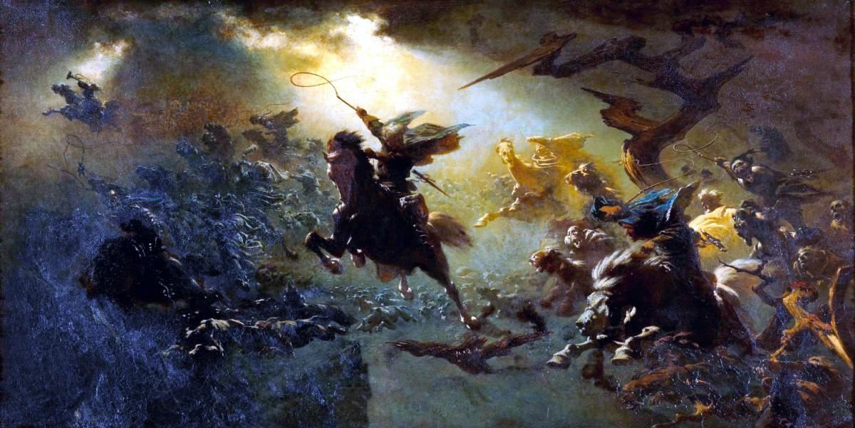 """""""Die Wilde Jagd"""" (Johann Wilhelm Cordes - 1856-1857)"""
