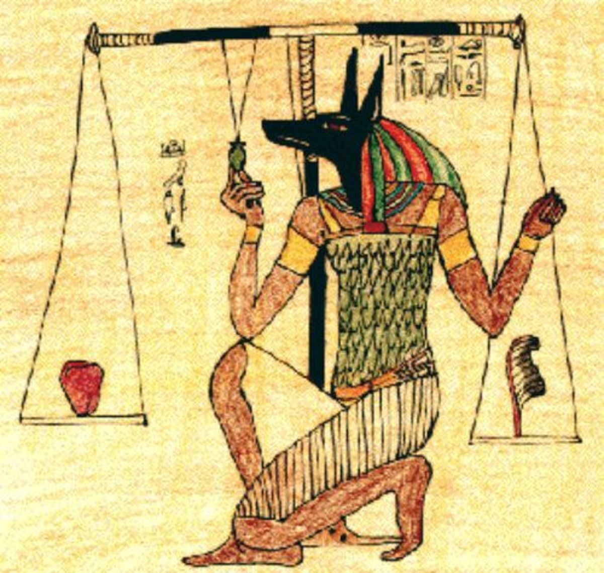 Anubis at his scales