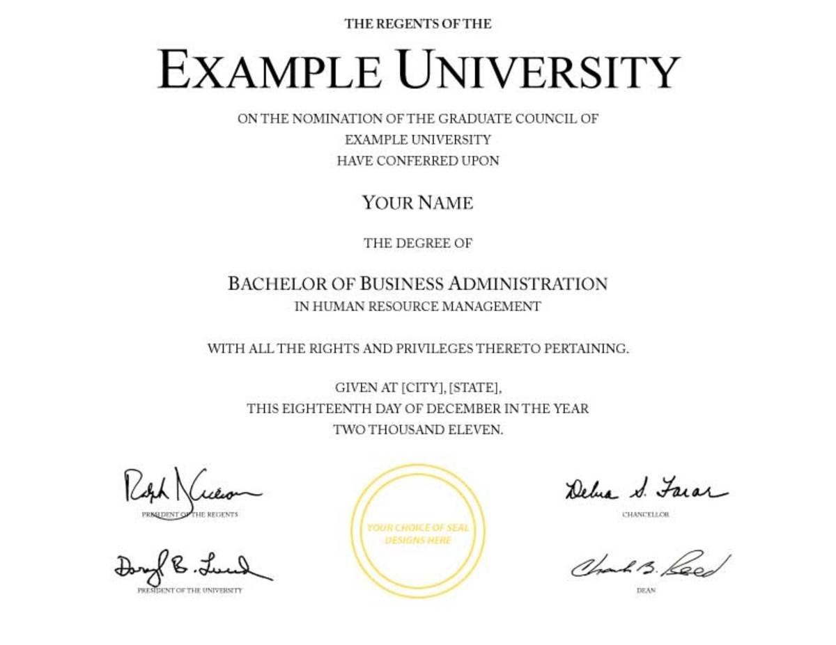 Example of fake diploma from cheeper than tuition.com