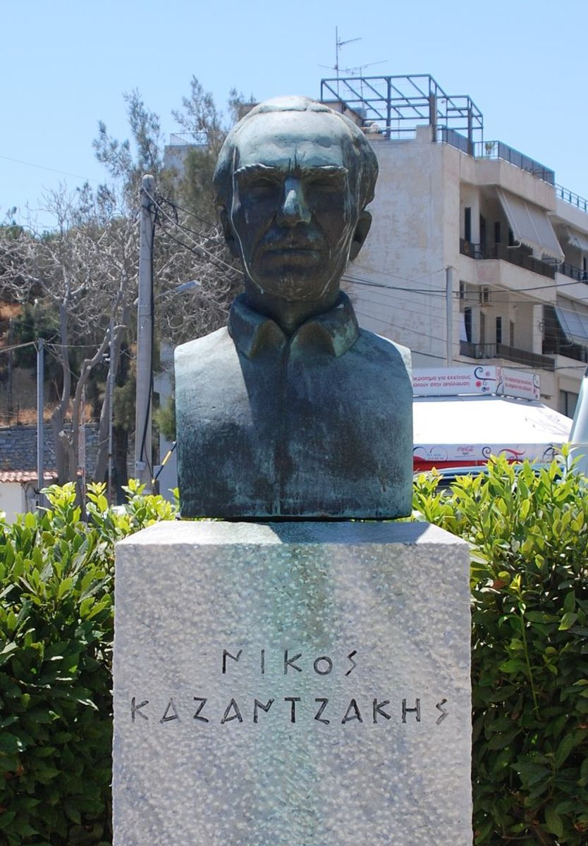 No matter how the sandwich tastes, you have to admire the sandwich making skills of this embattled author, Nikos Kazantzakis.