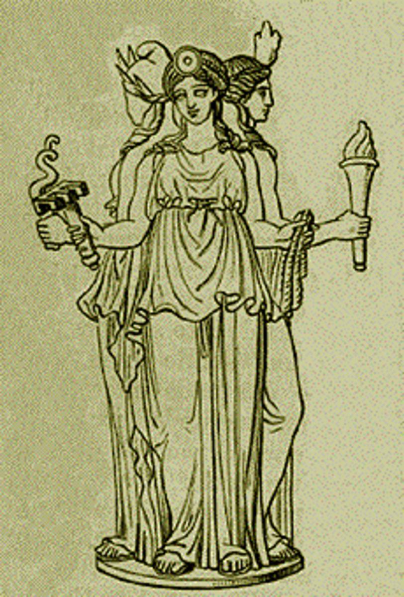 Hecate, Greek Goddess of the crossroads (Stephane Mallarme 1880)