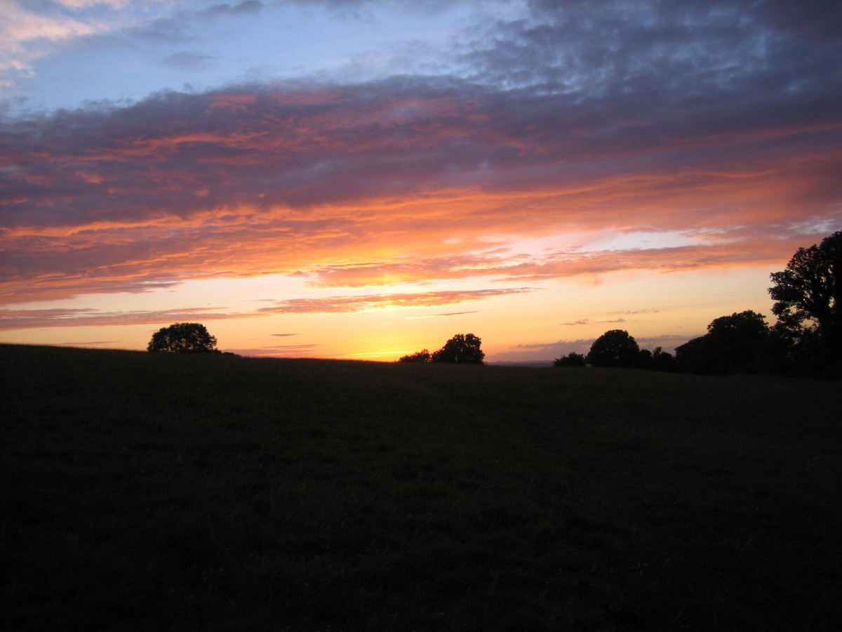Sunset at the Hill of Tara