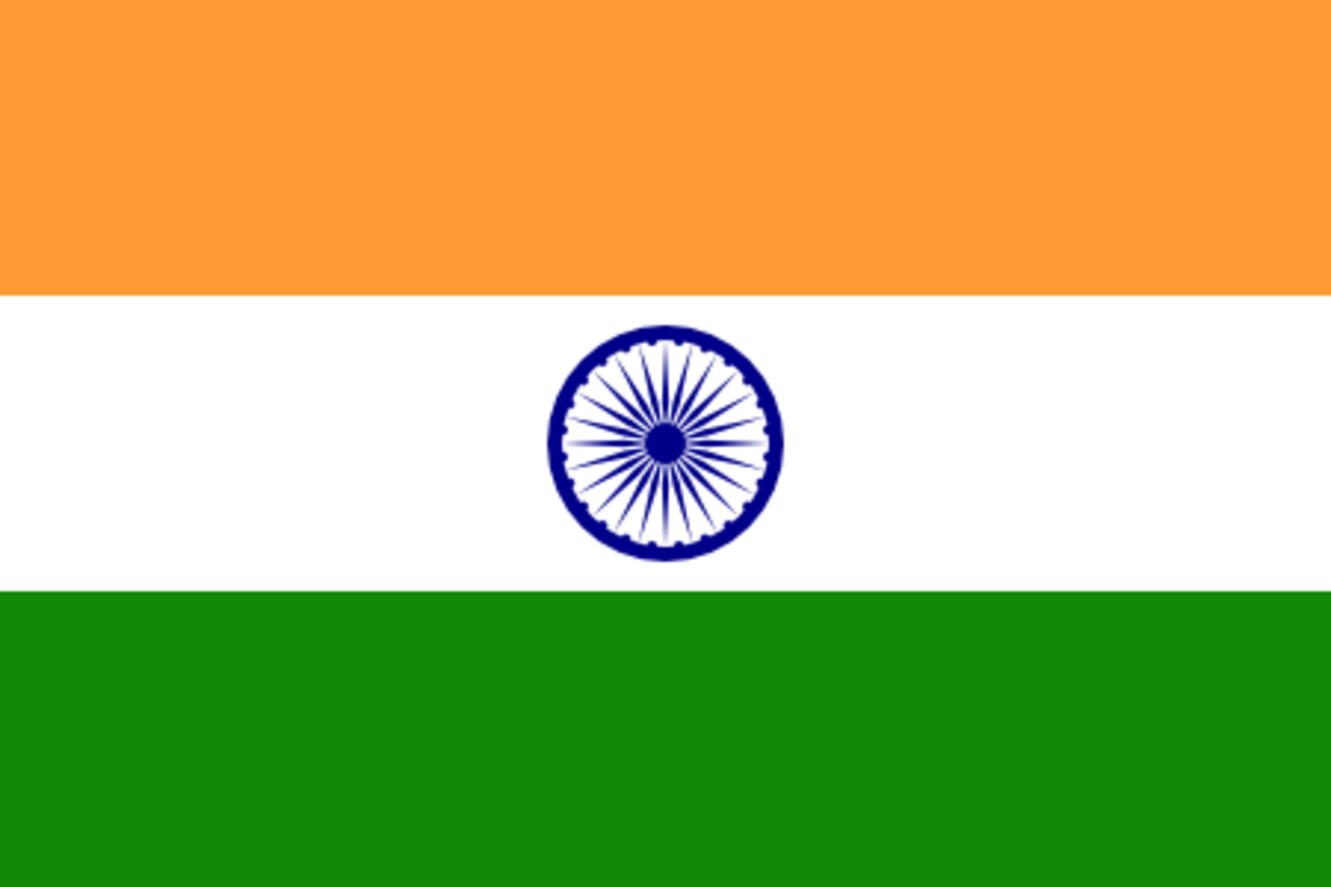 "The Ashoka Chakra, a Hindu symbol that literally translates to ""wheel of the law,"" can be seen on the flag of India"